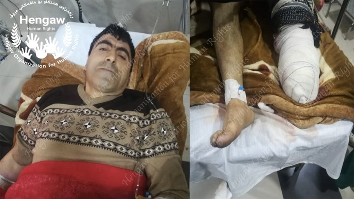 A Mine explosion cut off a Kolbar's foot from Piranshahr