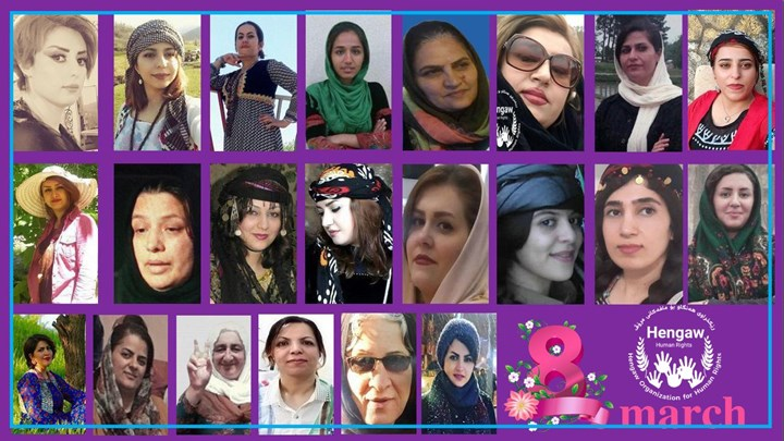 Report from March to March, arresting of 38 women  issuance of imprisonment verdict for 7 women activists and execution of 4 women in Kurdistan