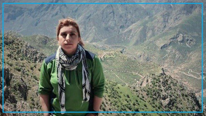 Female Kurdish activist Franak Jamshidi , sentenced to 4 years in prison