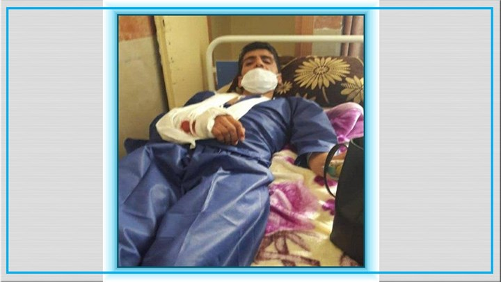 Kurdish Kolbar Injured on Kurdistan Border