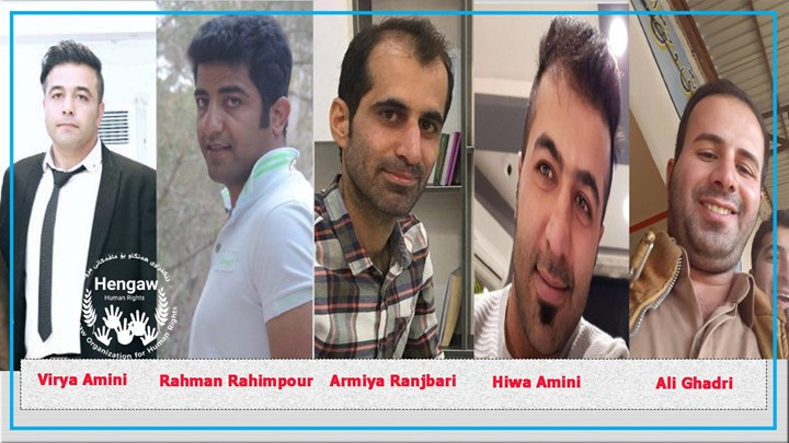 Five Kurdish  activists from Saqqez sentenced to a total of 58 months in prison
